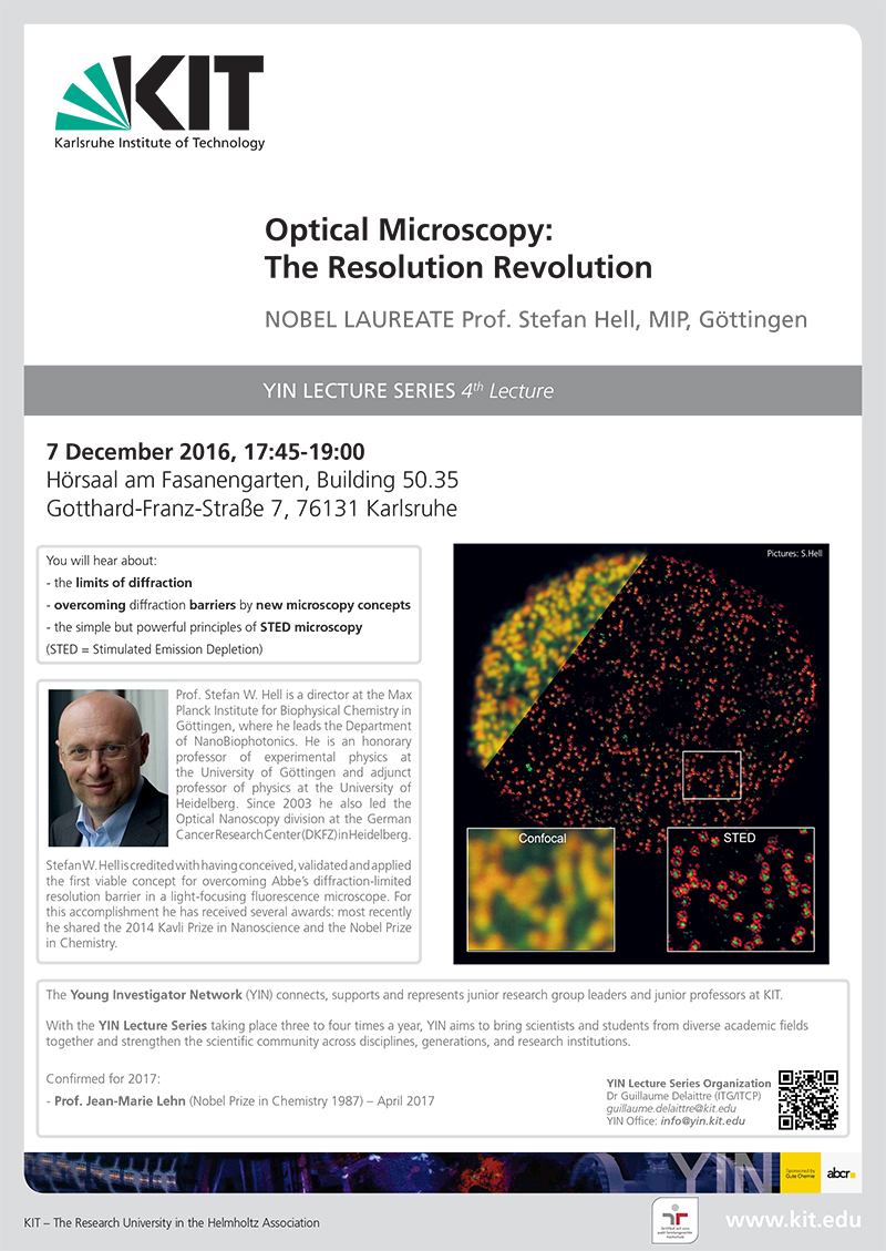 Optical Microscopy: The Resolution Revolution – Prof. Stefan Hell