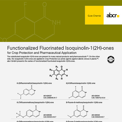 Fluoro Isoquinolines Flyer