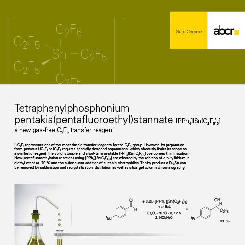 Fluoro Tetraphenylphosphonium Flyer