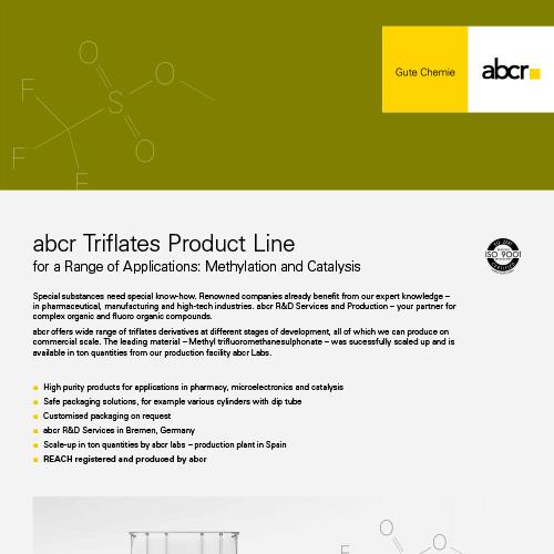 abcr Triflates