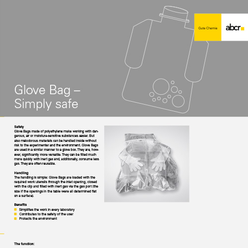 abcr Glove Bag Flyer