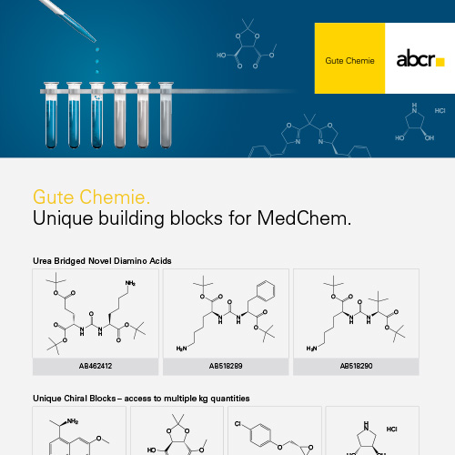 abcr Unique Building Blocks for MedChem